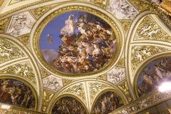 Inre av Palazzo Pitti, Florence, Italien Royaltyfri Fotografi