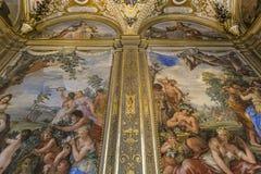 Inre av Palazzo Pitti, Florence, Italien Fotografering för Bildbyråer