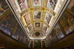 Inre av Palazzo Vecchio, Florence, Italien Arkivfoto