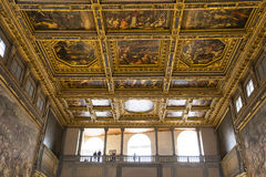 Inre av Palazzo Vecchio, Florence, Italien Royaltyfria Foton