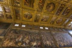 Inre av Palazzo Vecchio, Florence, Italien Royaltyfri Fotografi