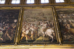 Inre av Palazzo Vecchio, Florence, Italien Fotografering för Bildbyråer