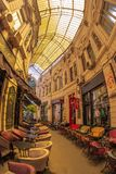 Inre av passagen Macca-Villacrosse, Bucharest, Rumänien royaltyfri bild
