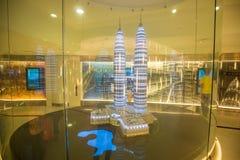 Inre av Petronas torn Arkivfoto