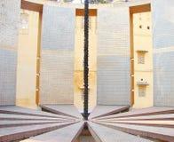 Inre av Rama Yantra - ett astronomiskt instrument på observatoriet, Jantar Mantar, Jaipur, Rajasthan, Indien arkivfoto