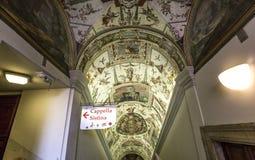 Inre av Raphael hyr rum, Vaticanenmuseet, Vaticanen Royaltyfria Foton
