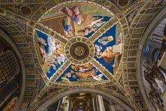 Inre av Raphael hyr rum, Vaticanenmuseet, Vaticanen Royaltyfria Bilder