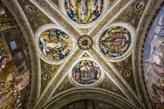 Inre av Raphael hyr rum, Vaticanenmuseet, Vaticanen Royaltyfri Foto