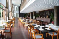 Inre av restaurangen Fotografering för Bildbyråer