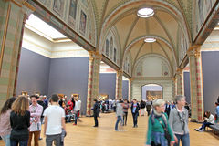 Inre av Rijksmuseum i Amsterdam, Nederländerna Arkivbilder