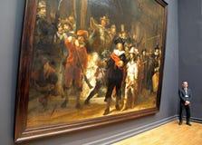 Inre av Rijksmuseum i Amsterdam, Nederländerna Arkivfoton