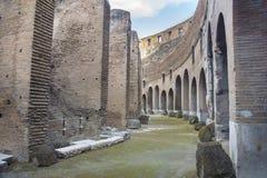 Inre av Roman Colosseum, Rome, Italien Royaltyfri Bild