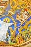 Inre av romaren - katolsk kyrka och minderårigbasilika Sacre-Coe Arkivbilder