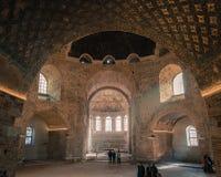 Inre av rotundan av Galerius i Thessaloniki - Grekland Arkivbild