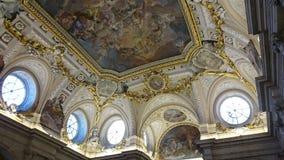 Inre av Royal Palace av Madrid Arkivbild
