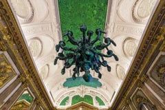 Inre av Royal Palace, Bryssel, Belgien Royaltyfria Bilder