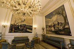 Inre av Royal Palace, Bryssel, Belgien Royaltyfria Foton