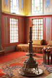 Inre av rum i harem av Khans slott, Krim Royaltyfria Foton
