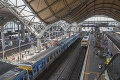 Inre av södra korsetstationen, Melbourne, Australien Fotografering för Bildbyråer
