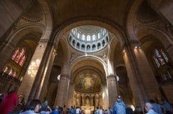 Inre av Sacre-Coeur Basilique i Montmartre Paris, Frankrike royaltyfri fotografi