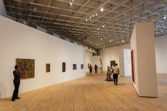 Inre av samtida konstmuseet som buidling i Houston, TX arkivfoton