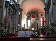 Inre av San Francesco della Vigna det 18th århundradet, en romare - katolsk kyrka i Sestieren av Castello i Venedig arkivbilder