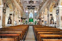 Inre av Santa Cruz Cathedral på fortet Cochin Arkivbilder