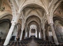 Inre av Santa Maria delle Grazie i Milan Royaltyfri Fotografi