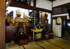 Inre av Shintorelikskrin i Akita, Japan Fotografering för Bildbyråer