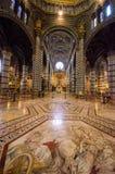 Inre av Siena Cathedral i Tuscany, Italien, Augusti 2016 Royaltyfri Fotografi
