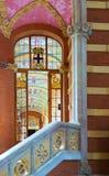 Inre av sjukhusde-la Santa Creu I Sant Pau i Barcelona Arkivfoton
