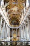 Inre av slotten av Versailles Arkivfoto