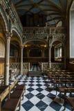 Inre av slottkyrkan av den gamla slotten Fotografering för Bildbyråer