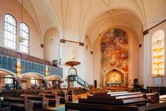 Inre av Sofia Kyrka, Sofia Church, i Stockholm, Sverige Royaltyfri Fotografi