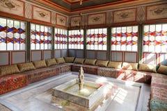 Inre av sommar Hall i Khans slott, Krim Arkivfoton