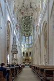 Inre av St. Barbara Church i Kutna Hora Royaltyfria Bilder