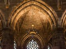 Inre av St Giles Cathedral, Edinburg, detalj Fotografering för Bildbyråer