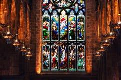 Inre av St Giles Cathedral i Edinburg, Skottland fotografering för bildbyråer