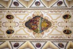 Inre av St Louis Cathedral i Jackson Square New Orleans, L Arkivfoton