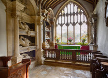 Inre av St Mary Church Swinbrook Royaltyfri Bild