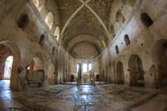 Inre av Sten Nicholas Church Demre Turkey Royaltyfria Bilder