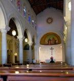 Inre av Sts Joseph kyrka i Nazareth Royaltyfri Bild