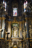 Inre av Sts Peter och Paul Garrison Church Arkivbilder