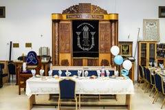 Inre av synagogan a i Ramla israel royaltyfria foton