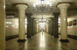 Inre av tunnelbanastationen Avtovo Royaltyfri Fotografi