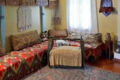 Inre av vardagsrum i Khans slott, Krim Royaltyfria Bilder