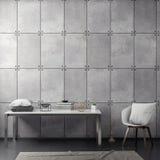 Inre av vardagsrum med betongväggen, tolkning 3D stock illustrationer