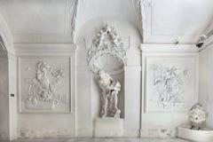 Inre av vinterslotten av prinsen Eugene Savoy i Wien Royaltyfria Foton