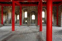 Inre av watchtoweren på den stora Kina väggen Royaltyfri Fotografi