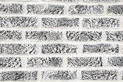 Inre backgro för abstrakt begrepp för stil för tappning för tegelstenvägg ton blekt Royaltyfri Bild